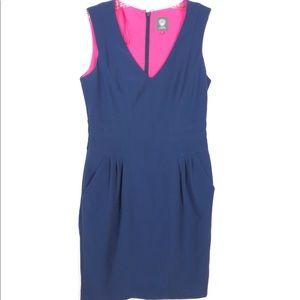 Vince Camuto Navy Blue Sheath Dress